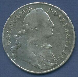 Bayern Madonnentaler 1776 Maximilian III. Joseph, ss (m3020)