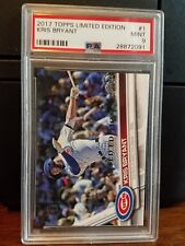 2017 Topps Limited Edition Kris Bryant Cubs Baseball Card #1 PSA 9 Mint