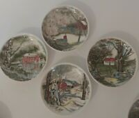 "Set Of 4 Johnson Brothers The Friendly Village Saucer Plate 4"" Made In England"