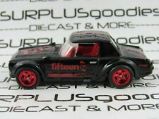 Hot Wheels 1:64 LOOSE Black DATSUN FAIRLADY 2000 Custom SUPER w/Real Riders