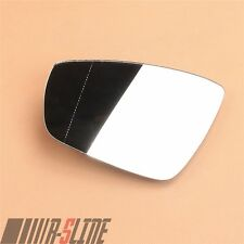 Left Side Wing Mirror Glass W/Heated Rearview Fit For VW Polo 6R 10-17 Hatchback