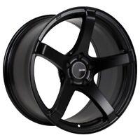 18x8.5 Enkei KOJIN 5x100 +45 Black Rims Fits Corolla Celica Wrx Brz