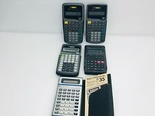 Lot Texas Instruments TI-30A TI-30a TI-35 & Casio fx-260 Solar Calculator