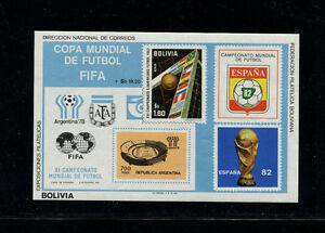 Bolivia 1982 Soccer/Football World Cup Michel BL 98-99  Souvenir Sheets(2)