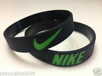 Nike Sport Baller black w/green logo Band Silicone Rubber Bracelet Wristband