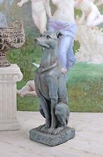 Figurine Chien Lebensgross Lévrier 80cm Schlossgarten Sculpture Neuf
