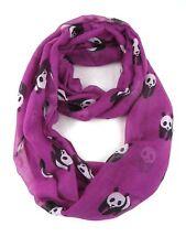 Womens Large Summer Panda Chiffon Oversized Long Wrap Thin Style Scarf Shawl UK Purple