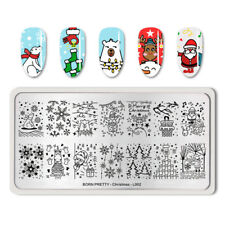 BORN PRETTY Rectangle Nail Art Stamping Plate Nail Stamp Image Plate Christmas