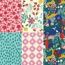 Enchanted Forest Fabric - Birch Creative - 5 fat quarters in bundle 50 x 52 cm