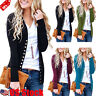 Women Casual Cardigan Thin Slim Buttons Tops Knitting Sweater Long Sleeve Blouse