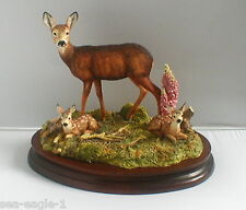 BORDER FINE ARTS, IN A SUNNY GLADE, Deer,1999, Very Rare, Excl.Society Piece,MIB