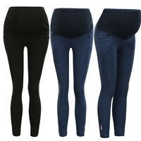 Women Pregnancy Solid Jeans Maternity Denim Pants Trousers Elastic Belly Legging