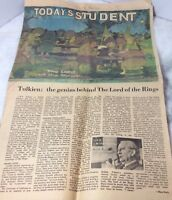 Today's Student Newspaper 1978 Article Dungeon & Dragons Tolkien RARE