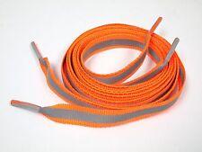 """45"""" 112cm 3M Reflective Flat shoelaces 4M running Athletic Safety Orange"""
