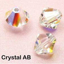 40 Genuine SWAROVSKI Crystal 5328 BICONE BEADS 3MM/ 4MM/ 6MM Clear or Clear AB