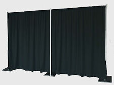 QUICK BACKDROP KIT 8 FT TALL x 20 FT WIDE PIPE AND DRAPE  (BLACK PREMIER DRAPES)