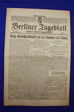 BERLINER TAGEBLATT (5.3.1917): Rege Gefechtstätigkeit an Somme und Maas