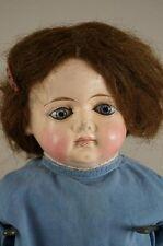 """Antique 22"""" Papier Mache Doll - Cloth Body Shoulder Head"""