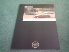 1989 SAAB DEDICATED TO YOU - UK COLOUR FOLDER BROCHURE - 900 9000