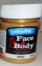 PAINTING - DERIVAN GOLD METALLIC FACE PAINT 1 x 40ml