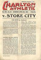 CHARLTON ATHLETIC v STOKE CITY 1949-50 programme