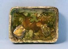 FROG POND 1:12 Scale Ceramic Dollhouse Miniature Garden Adult Collectable FALCON