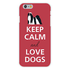Keep Calm and Love Dogs Maltese Shih Tzu FITS iPhone 6+ Snap On Case Cover New