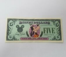 DISNEY DOLLARS, GOOFY, $5 USA NOTE series 1988 MINT cond.. SERIAL NO D00137547A