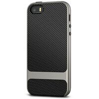 JETech Case for Apple iPhone SE 5s 5 Shock-Absorption Carbon Fiber Cover