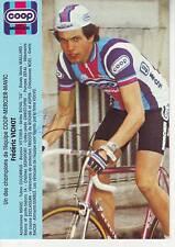CYCLISME carte cycliste FREDERIC VICHOT équipe COOP MERCIER MAVIC 1982 signée