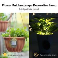 2pcs Waterproof Outdoor Solar Lamp Garden Streetlight Flowerpot Landscape Light