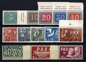 "SUISSE STAMP TIMBRE YVERT N° 405/17 "" SERIE DE LA PAIX 1945 "" NEUF xx LUXE W132"