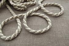Baumwollkordel 10 mm Durchmesser stark Kordel Schnur  Naturleinen/Weiß Neu
