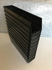Shelf Bin, Black ,Quantum Storage Systems, QSB203 Pack 10pcs