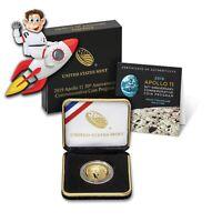 2019-W Apollo 11 Anniversary $5 Proof Gold Coin (w/ Box & COA) (#30012)