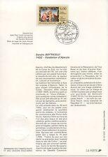 FDC / PREMIER JOUR / ART / SANDRO BOTTICELLI AJACCIO 1992
