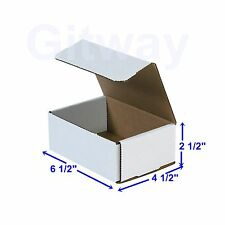 6 1/2 x 4 1/2 x 2 1/2 Small White Cardboard Packaging Mailing Shipping 50 Boxes