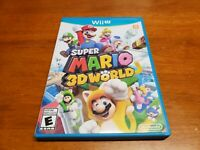 Super Mario 3D World (Nintendo Wii U, 2013) CIB Complete TESTED