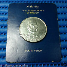 1981 Malaysia Tun Hussein Onn $20 Ringgit Commemorative Silver Coin