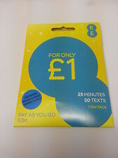 EE Pay As You Go SIM Card standard / micro ,brand new sealed EE network