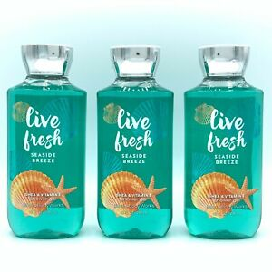 Bath and Body Works Live Fresh Seaside Breeze 10-fl oz Shower Gel 3-Pack