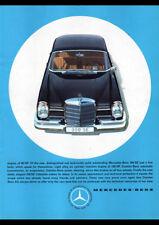 "1961 MERCEDES BENZ 180D W120 PONTON AD A4 POSTER PRINT LAMINATED 11.7""x8.3"""