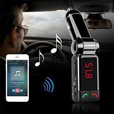 Car Bluetooth Kit MP3 CVC AUX Audio Radio FM Transmitter USB Charger Handsfree