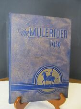1939 State A & M College at Magnolia Arkansas Yearbook Annual The Mulerider