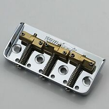 NEW Wilkinson WTBS Short Bridge for Telecaster, Brass Saddles, Chrome