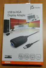 USB to VGA Display Adapter J5Create VGA to USB 2.0 Type A Instructions Open Box