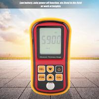 Handheld Digital Ultrasonic Thickness Tester Gauge Measuring Range 1.2-220mm