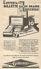 W7222 L'offerta GILLETTE ha un grande... - Pubblicità del 1932 - Vintage advert
