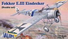 VALOM 1/144 Modèle Kit 14414 Fokker E.III Eindecker (2 kits inclus)