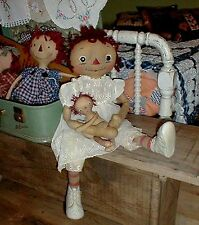Primitive Pattern Vintage Annie and her dolly 2 feet tall  to make # SMF